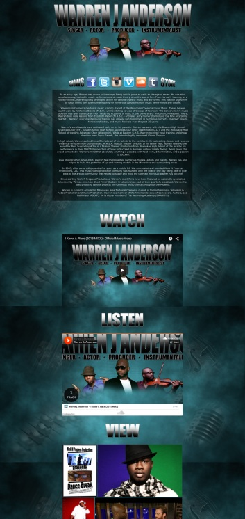 Warren J Anderson Website Design #2